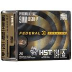 Fed Prm Pd 9mm Hst 124gr Jhp 20/200